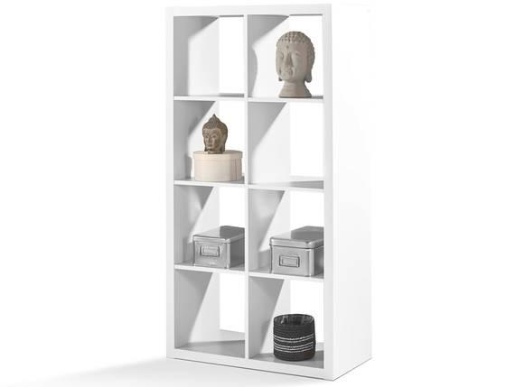 SALONA Raumteiler 5, Material Dekorspanplatte, 8 Fächer weiss DETAIL_IMAGE