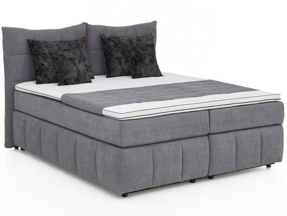 TAIPEH Boxspringbett mit Bettkasten, Bezug Stoff, anthrazit 180 x 200 cm | Härtegrad 2 DETAIL_IMAGE