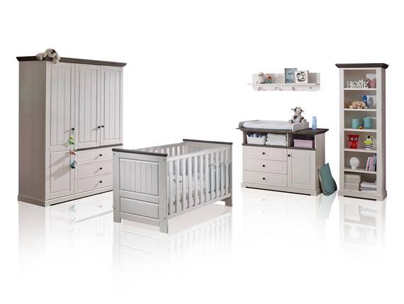 TINKA Babyzimmer, Material Massivholz, Kiefer weiss/grau  DETAIL_IMAGE