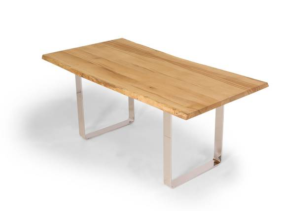 ZWEIGELT Esstisch / Baumkantentisch 200x100 cm, Material Massivholz, Eiche  DETAIL_IMAGE