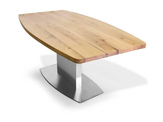 PALMA Esstisch nach Maß mit Bootsform, Material Massivholz  DETAIL_IMAGE