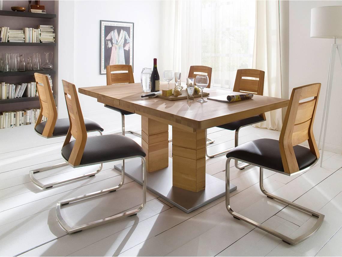Calvaro esstisch massivholztisch rechteckig 140x90 cm for Esstisch rechteckig