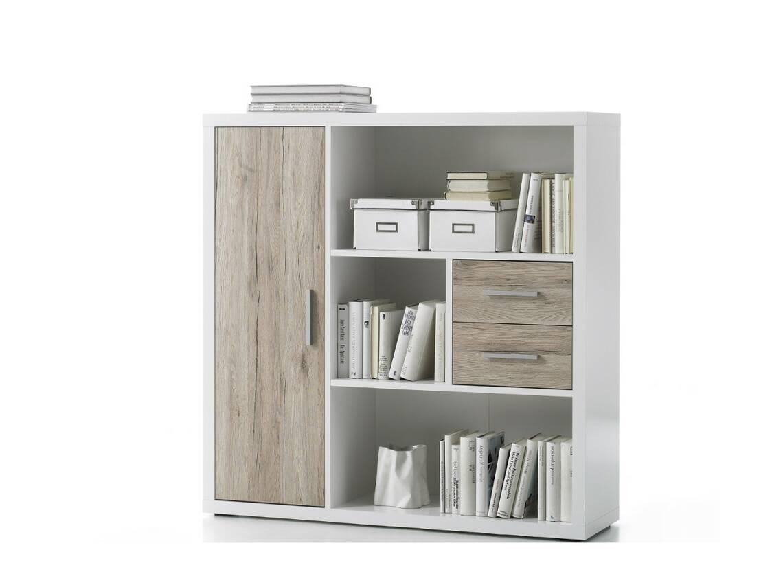 tokio highboard weiss eiche san remo hell. Black Bedroom Furniture Sets. Home Design Ideas