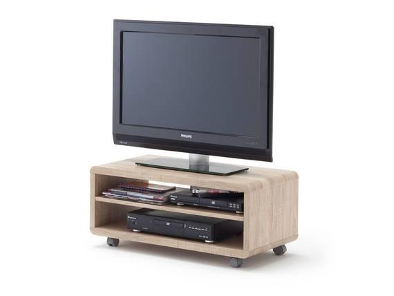 jaap tv lowboard eiche s gerau mit rollen detail image. Black Bedroom Furniture Sets. Home Design Ideas