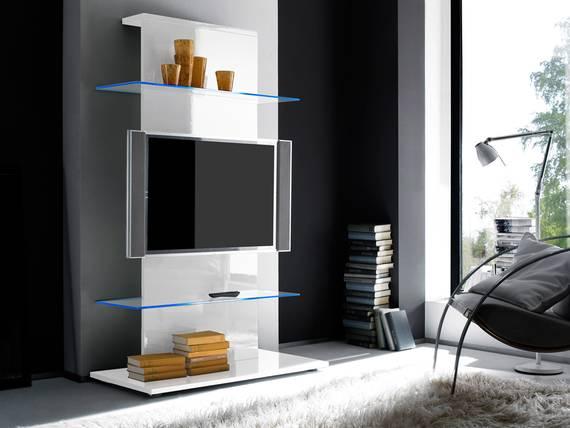 portia tv turm weiss. Black Bedroom Furniture Sets. Home Design Ideas