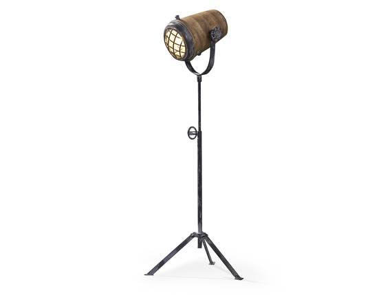 VALMIR Stehlampe Eisen/Mangoholz 112 - 184 cm DETAIL_IMAGE