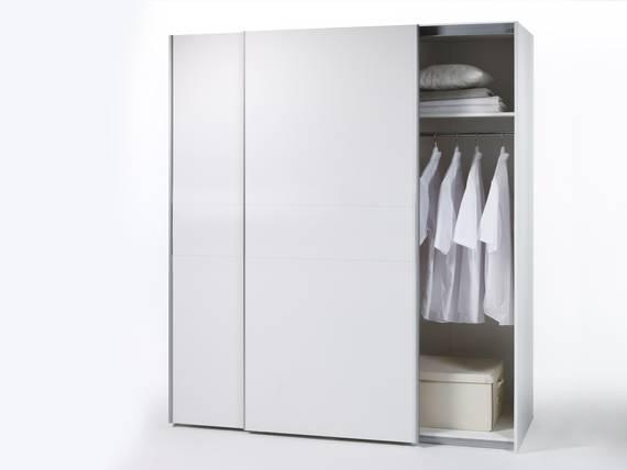 VANTA 2 Schwebetürenschrank, Material Dekorspanplatte Weiss DETAIL_IMAGE
