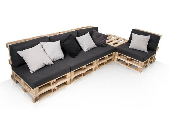 PALETTI Sofalandschaft I Sofa aus Paletten Fichte massiv Fichte natur DETAIL_IMAGE