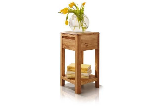 VERONA Blumensäule, Material Massivholz, Wildeiche massiv geölt 60 cm DETAIL_IMAGE