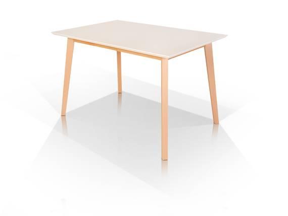 VINCENT Esstisch, Material MDF/Massivholz 140 x 80 cm | Buche/weiss DETAIL_IMAGE