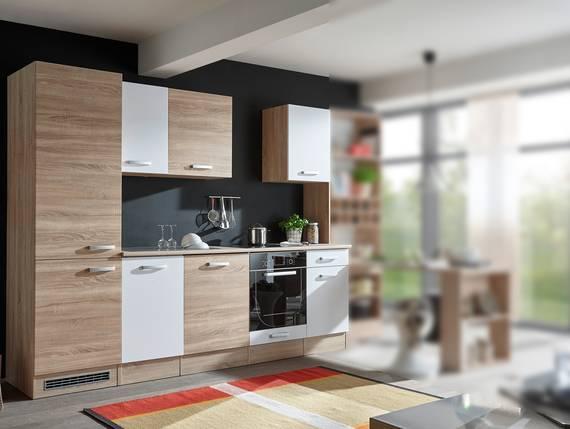 VINO Küchenblock, Material Dekorspanplatte, Eiche sonomafarbig/weiss  DETAIL_IMAGE