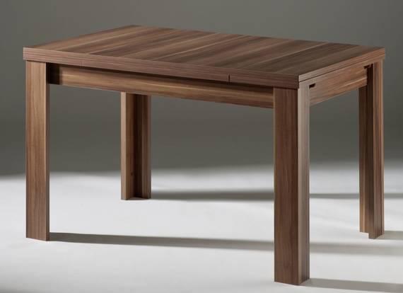 zappa esstisch ausziehbar 80 x 80 cm walnuss. Black Bedroom Furniture Sets. Home Design Ideas
