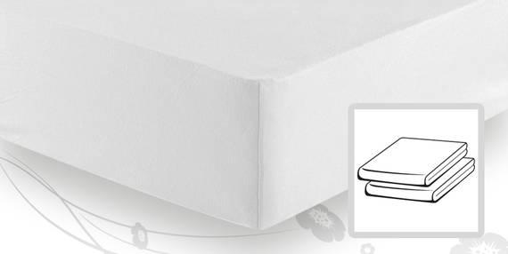 schlafgut basic jersey spannbetttuch spannbettlaken 140x200 bis 160x200 weiss. Black Bedroom Furniture Sets. Home Design Ideas