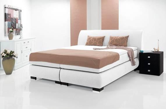 luxus boxspringbett inkl kopfteil doppelbett. Black Bedroom Furniture Sets. Home Design Ideas