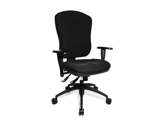 Wellpoint 30 P Drehstuhl, Material Stoff/Kunststoff, schwarz  DETAIL_IMAGE