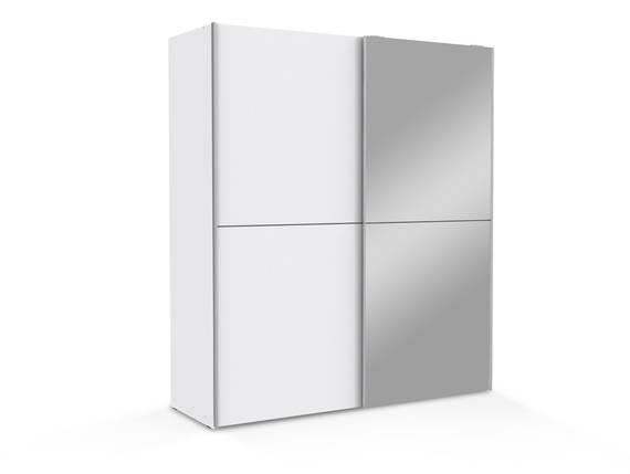 WALUNA Schwebetürenschrank mit Spiegel, Material Dekorspanplatte, weiss  DETAIL_IMAGE