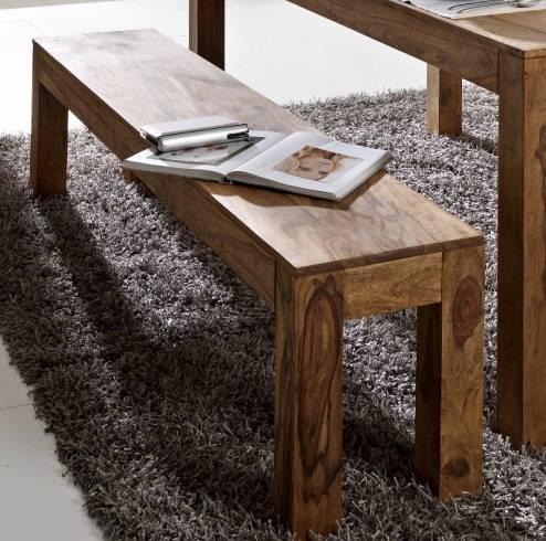 WHITNEY Massivholz Bank 160x35 cm, sheesham gebeizt, Material Massivholz  DETAIL_IMAGE