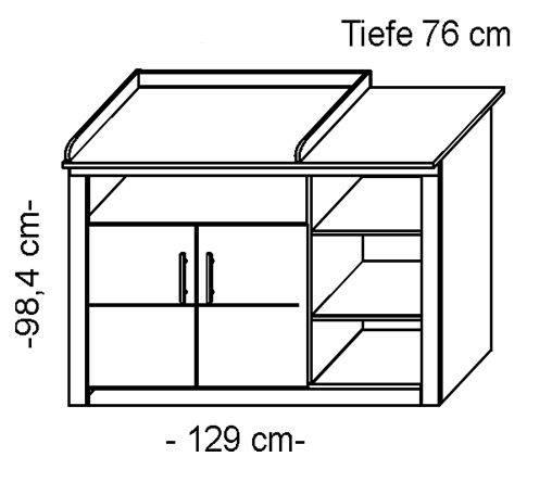 simona wickelkommode kernbuche 2 t ren 3 f cher. Black Bedroom Furniture Sets. Home Design Ideas