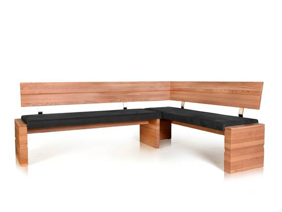 WOOD Eckbank, Material Massivholz/Kunstfaser 208 x 161 cm | rechts | Eiche bianco | anthrazit DETAIL_IMAGE