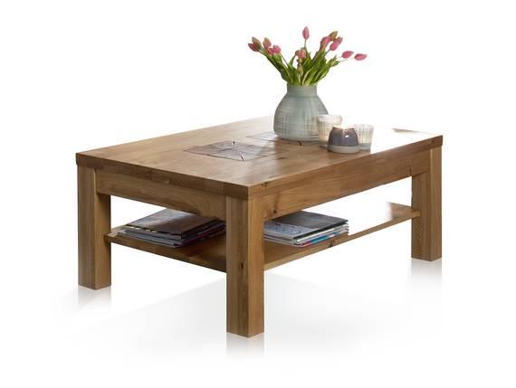 WINSTON Couchtisch, Material Massivholz, Wildeiche mit Hirnholz 118 cm DETAIL_IMAGE