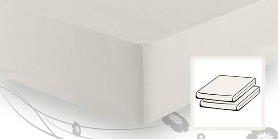 schlafgut elastic jersey topper spannbetttuch spannbettlaken 180 200x200 220 wollweiss. Black Bedroom Furniture Sets. Home Design Ideas