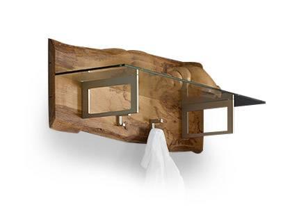 Woodline garderobe mit hutablage eiche s gerau for Garderobe komplett programme