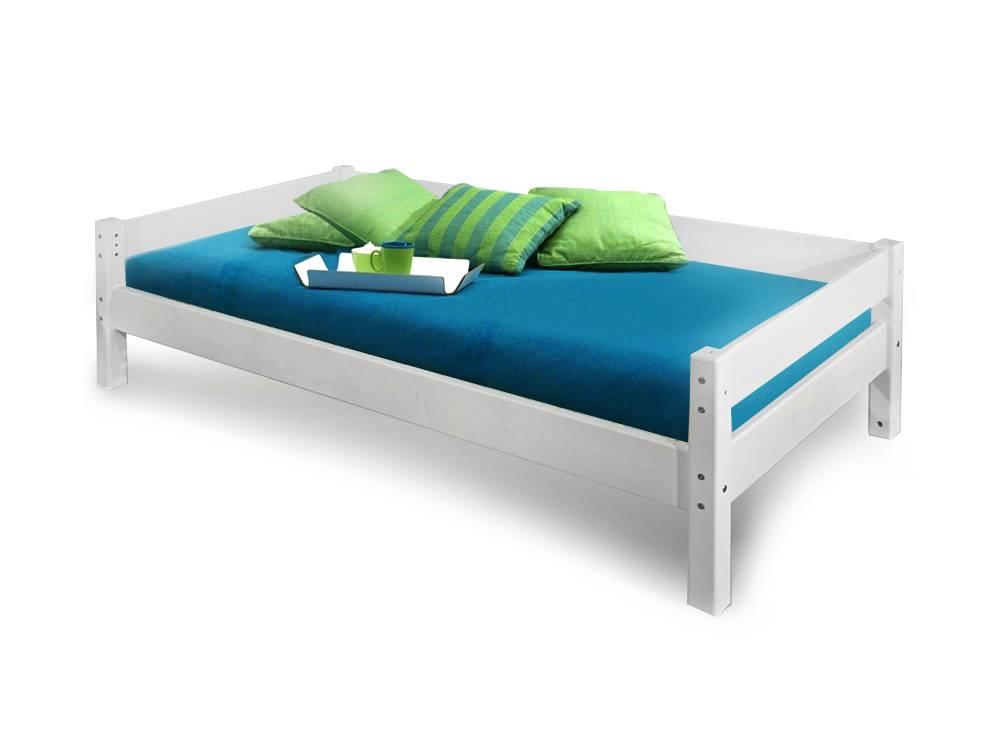 yogi einzelbett kinderbett 90x200 kiefer wei. Black Bedroom Furniture Sets. Home Design Ideas