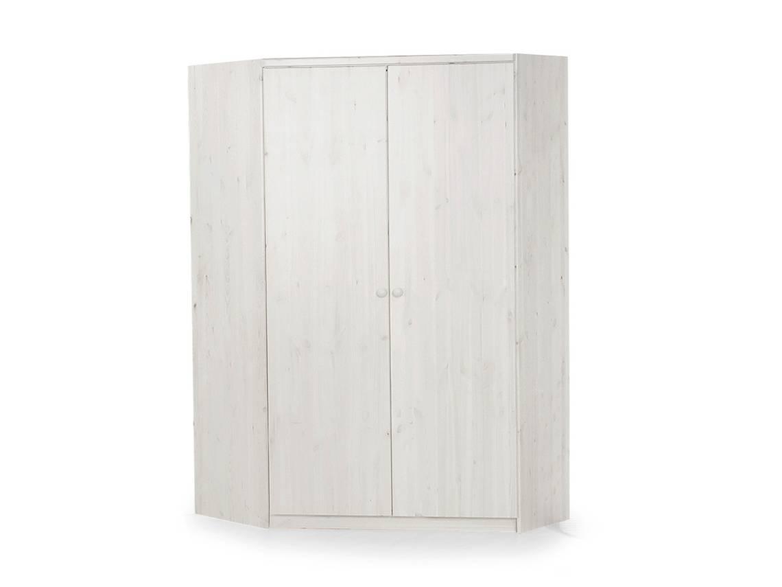 yogi eckschrank kleiderschrank 2 t rig kiefer wei. Black Bedroom Furniture Sets. Home Design Ideas