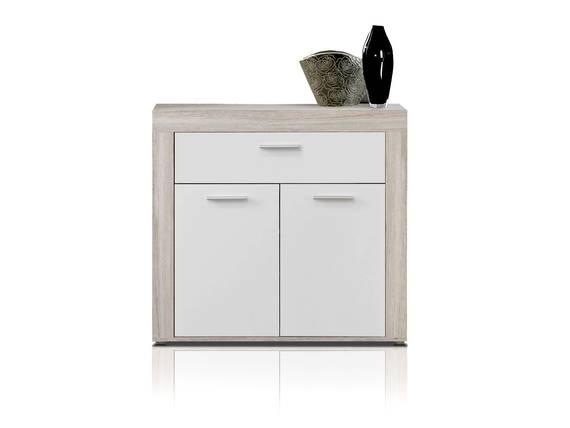 ZAMBA Schuhschrank, Material Dekorspanplatte, sandeichefarbig/weiss  DETAIL_IMAGE