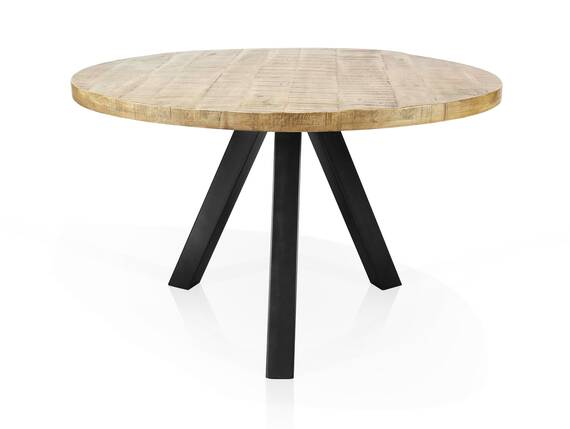 ZANTA Esstisch, Platte: 2.5 cm, Material Massivholz, Mangoholz 120 cm DETAIL_IMAGE