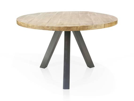 ZANTA Esstisch rund, Material Massivholz, Mangoholz 120 cm DETAIL_IMAGE