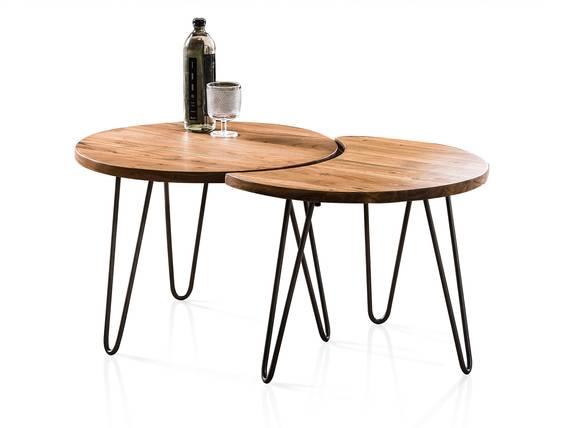 ZURI 2er Set Couchtische rund, 60 cm, Material Massivholz, Akazie  DETAIL_IMAGE