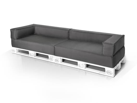 outdoor paletti 3 sitzer sofa europaletten weiss mit. Black Bedroom Furniture Sets. Home Design Ideas