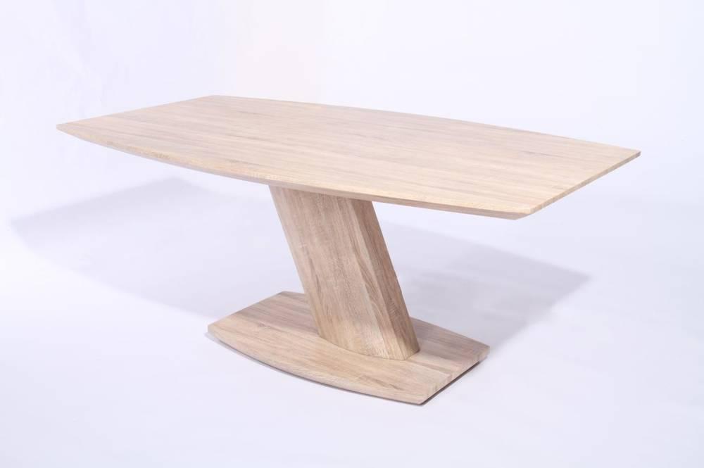 Jim tisch esstisch 180x108 cm säulentisch schiffsform eiche sonoma ...