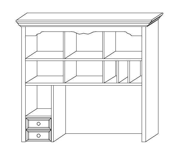 CINDERELLA Aufsatz für PC-Schreibtisch Kiefer weiß DETAIL_IMAGE 2