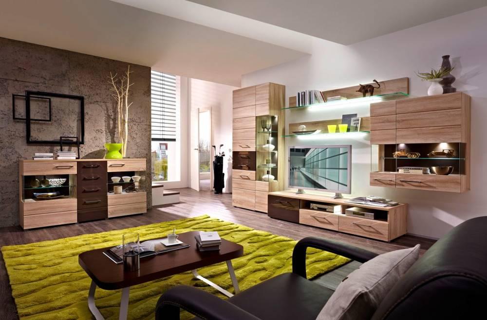 wohnwand sonoma eiche hell die neuesten. Black Bedroom Furniture Sets. Home Design Ideas