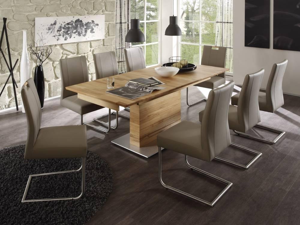 Esstisch s ule raum und m beldesign inspiration for Wohnzimmermobel massivholz