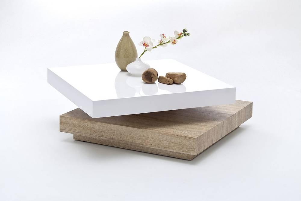 Halo Couchtisch Hochglanz Tisch Modern Wohnzimmer Drehbar Dekoo