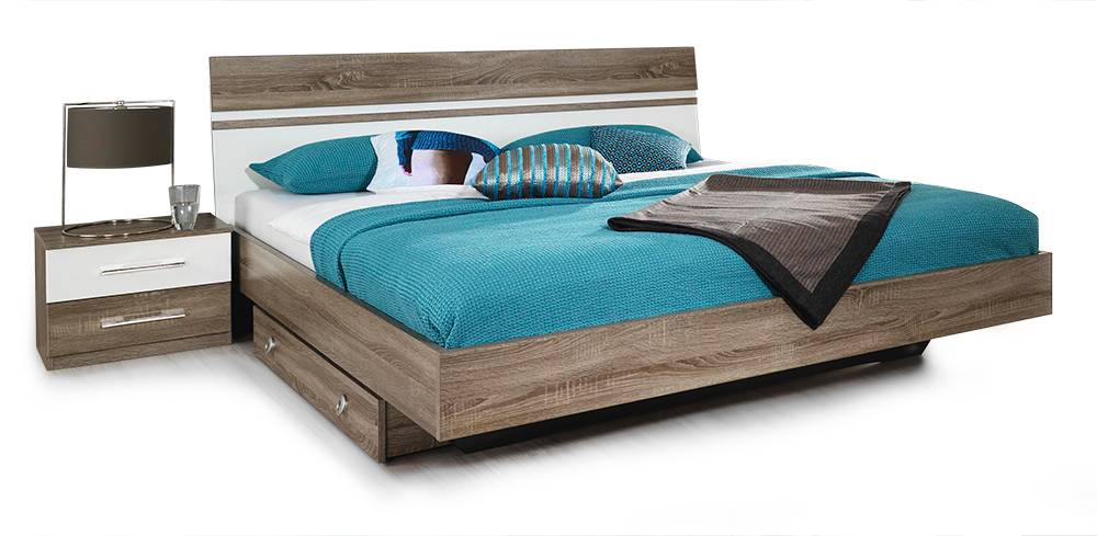 amika komplett schlafzimmer eiche havanna weiss ohne schubk sten. Black Bedroom Furniture Sets. Home Design Ideas