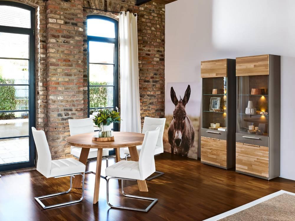 ARTE M Feel Massivholztisch Esstisch Rund Tisch Esszimmertisch 120cm |  Eiche | EBay