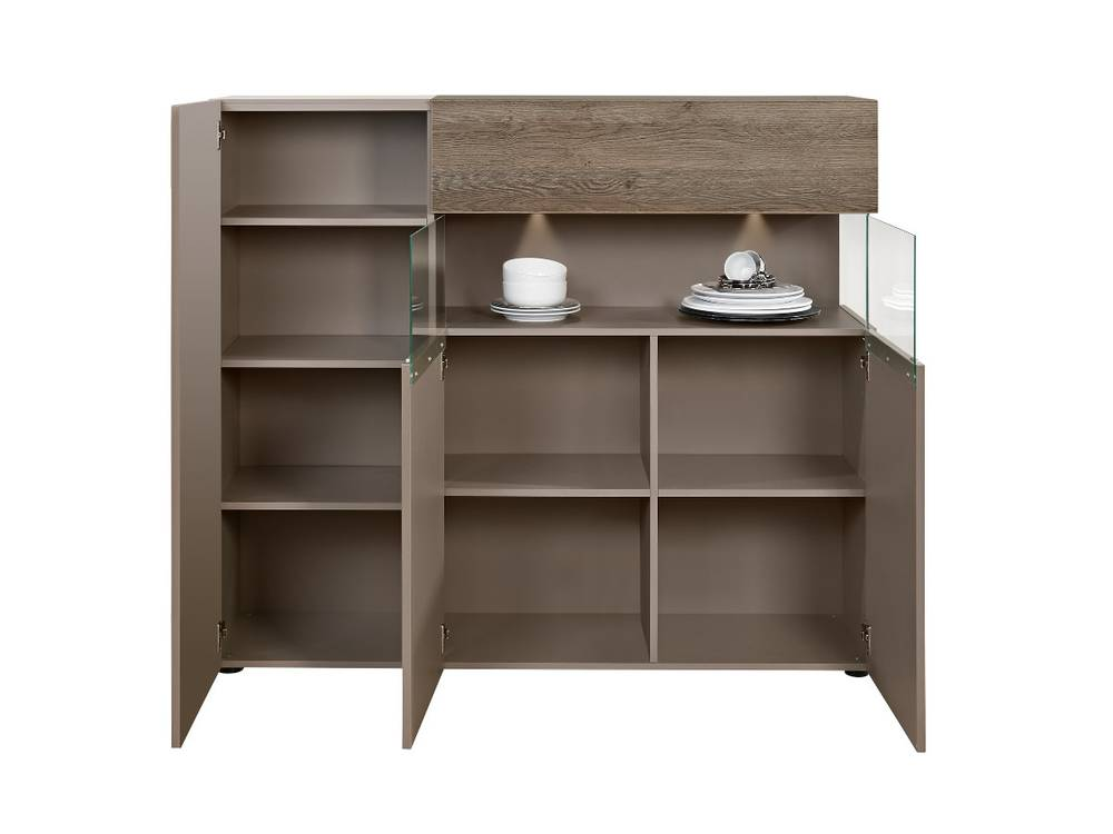 arte m beam w highboard cubanit eiche dunkel. Black Bedroom Furniture Sets. Home Design Ideas
