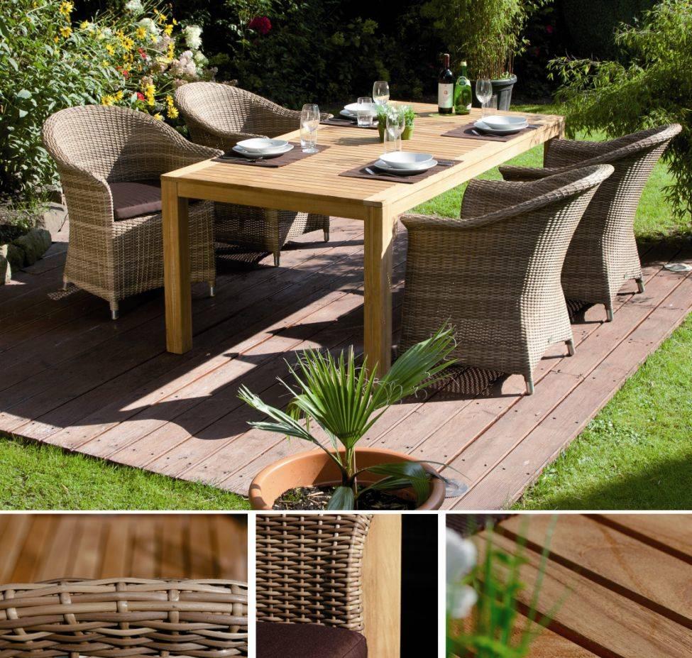 Gartenmobel Aus Rattan Kunststoff :  Garden Carvo Sessel Polyrattan Geflecht bicolor natur DETAILIMAGE 2