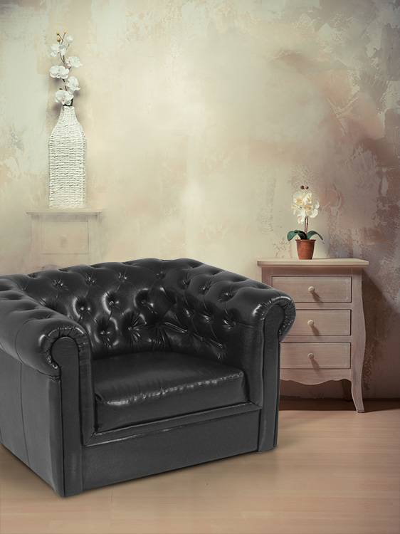 chesterfield polstersessel sessel 1 sitzer sofa antikschwarz schwarz antiklook ebay. Black Bedroom Furniture Sets. Home Design Ideas