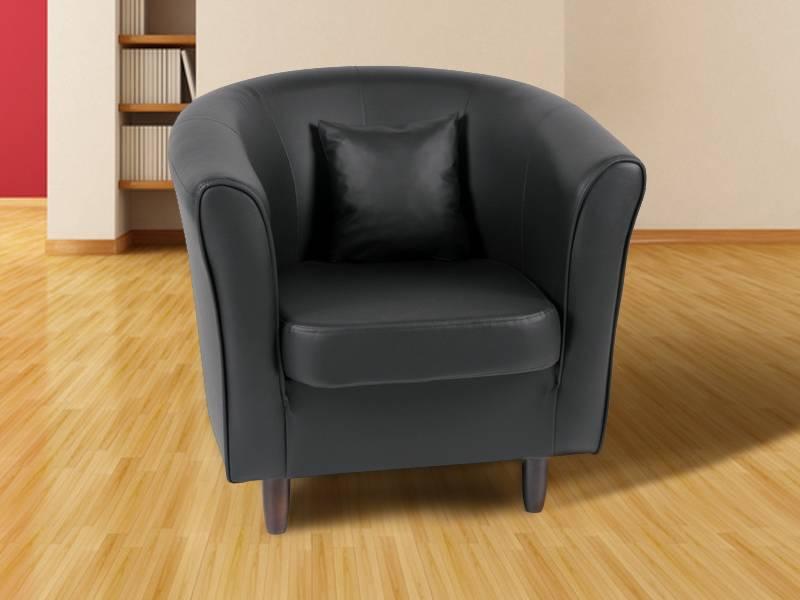 julio cocktailsessel inkl kissen schwarz. Black Bedroom Furniture Sets. Home Design Ideas