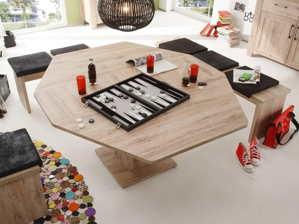 leroy 6 eck tisch esstisch eiche san remo hell. Black Bedroom Furniture Sets. Home Design Ideas