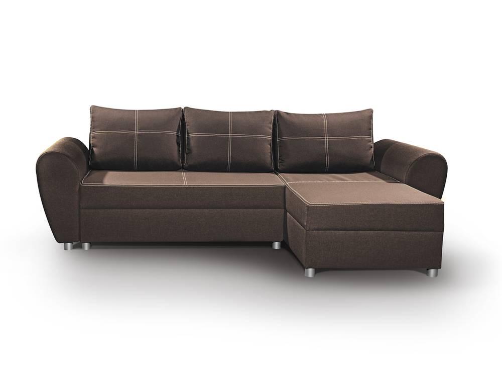 page ecksofa couch braun mit schlaffunktion. Black Bedroom Furniture Sets. Home Design Ideas