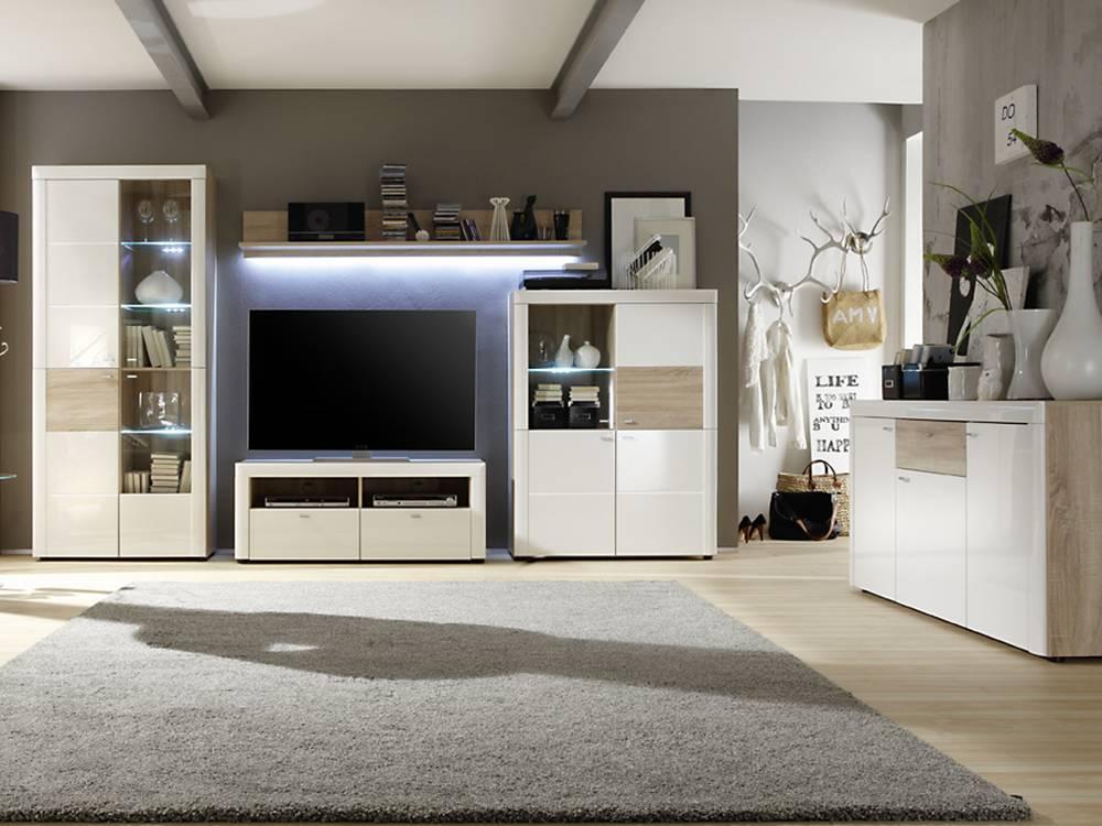 piet vitrine l wei eiche sonoma. Black Bedroom Furniture Sets. Home Design Ideas