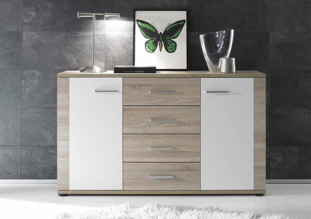 sideboard eiche sonoma weis die neuesten. Black Bedroom Furniture Sets. Home Design Ideas