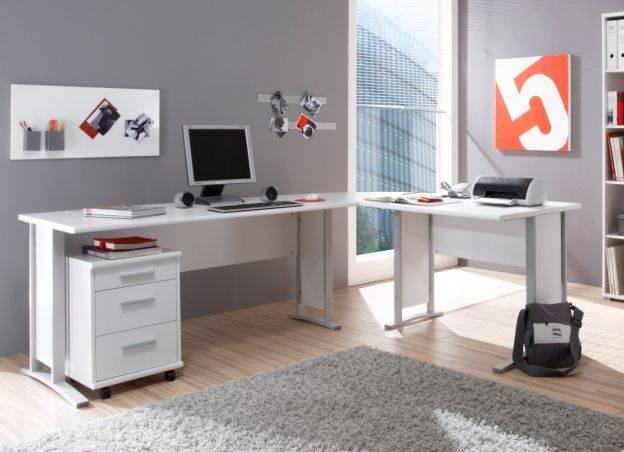 office line heimb ro 7 tlg weiss dekor. Black Bedroom Furniture Sets. Home Design Ideas