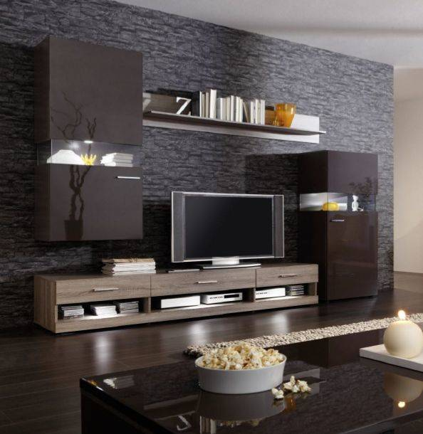 nelson ii wohnwand anbauwand schrankwand tv wand dek eiche. Black Bedroom Furniture Sets. Home Design Ideas